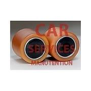 2 GALETS FOURCHES JUNGHEINRICH EJE 116 dim 82 100 105 20 mm TRANSPALETTE ELECTRIQUE