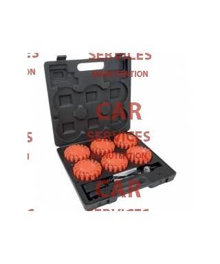 SAFETYBOX de 6 balises à LEDs magnétiques & rechargeables