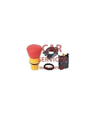 Bouton d'arrêt d'urgence, diamètre 40mm, Rouge, NF, Type Champignon, IP65, IP66