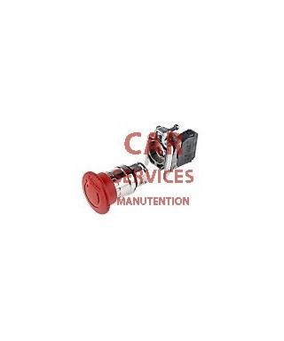 Bouton d'arrêt d'urgence, diamètre 40mm, Rouge, NF, Type Champignon, IP66, IP67, IP69, IP69K