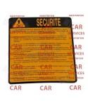 ADHESIF AUTOCOLLANT CONSIGNE DE SECURITE OBLIGATOIRE CONTROLE APAVE