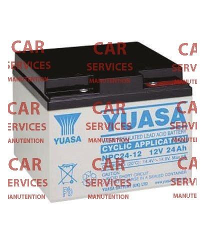 Batterie au plomb Yuasa 24Ah, 12V