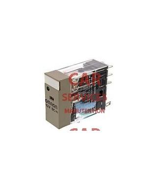 Omron G2R-2 Relais sans accrochage 2 RT, bobine 12V c.c. Enfichable 530mW
