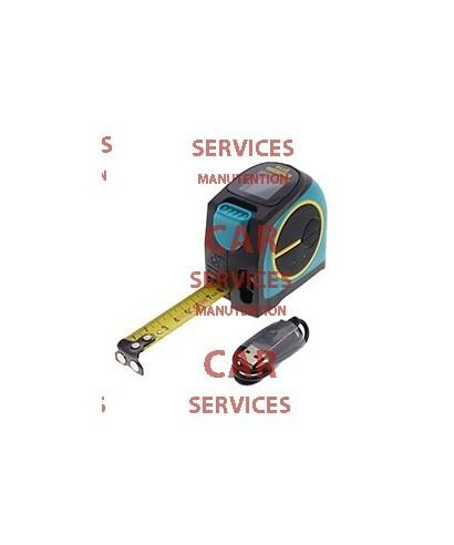 Télémètre laser + mètre-ruban 2-en-1